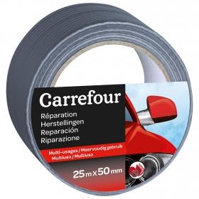 Cinta Adhesiva Americana Especial Exterior 25m x 50mm Gris