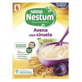 Papilla infantil desde 6 meses de avena integral con ciruelas sin azúcar añadido Nestlé Nestum sin aceite de palma 250 g.