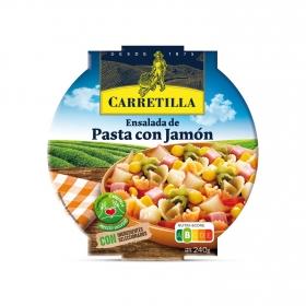 Ensalada de pasta con jamón Carretilla 240 g.
