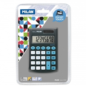 Calculadora Escolar Milan Pocket Touch Negro