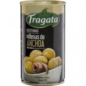 Aceitunas verdes rellenas de anchoa Fragata 150 g.