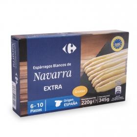 Espárragos blancos de Navarra Carrefour 220 g.