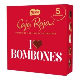 Bombones surtidos de chocolate Nestlé Caja Roja 5 ud.