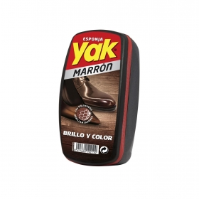 Esponja limpia calzado color marron Yak 1 ud.