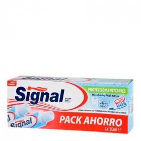 Dentífrico Utraprotectora Signal pack de 2 unidades de 100 ml.