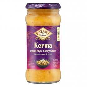 Salsa curry Korma Patak's tarro 350 g.
