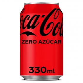 Refresco de cola Coca Cola zero lata 33 cl.