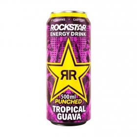 Bebida energética Rockstar sabor tropical guava 50 cl.