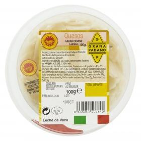 Queso grana padano D.O.P. laminas Hispano Italiana 100 g