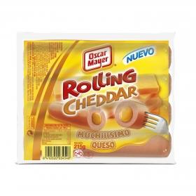 Salchichas Rolling Cheese Oscar Mayer 215 g.