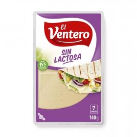 Queso tierno en lonchas El Ventero sin gluten y sin lactosa 140 g.