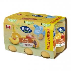Tarrito Frutas Variadas Hero Baby 6x235 gr
