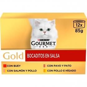 Purina Gourmet Gold Comida Húmeda para Gato Bocaditos en Salsa 12x85g