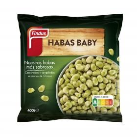 Habas babys Findus 400 g.