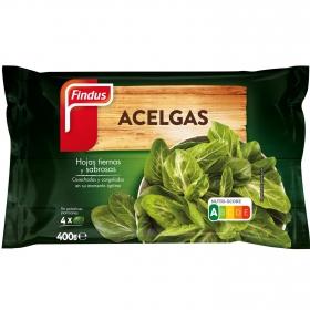 Acelga en hojas Findus 400 g.