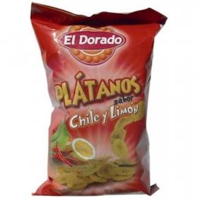 Snacks plátano sabor chile y limón El Dorado 100 g.