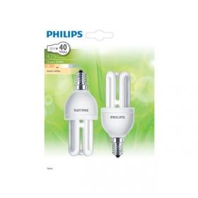 Pack de 2 Bombillas Fluorescentes Philips Genie 8W E14 Luz Cálida