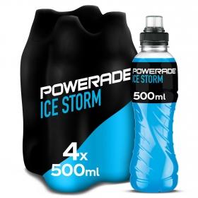 Bebida Isotónica Ice Storm Powerade pack de 4 botellas 50 cl.
