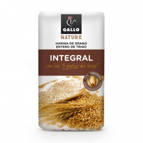 Harina de trigo integral Gallo 1 kg.