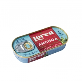 Filetes de anchoa del Cantábrico en aceite de oliva Gourmet Lorea 30 g.