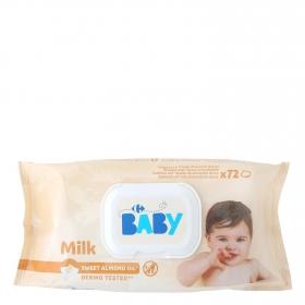 Toallitas Carrefour Baby Milky x72
