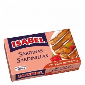Sardinillas salsa picantona Isabel 81 g.