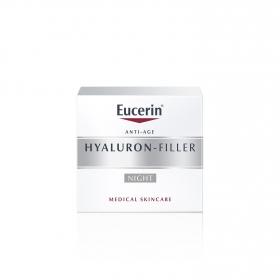 Crema facial rellenador de arrugas Hyaluron Filler para la noche Eucerin 50 ml.