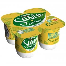Preparado de soja edulcorado natural Danone Savia sin lactosa pack de 4 unidades de 125 g.