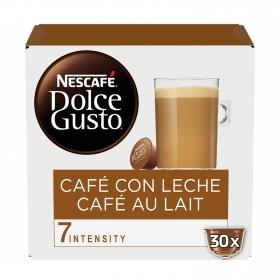 Café con leche en cápsulas Nescafé Dolce Gusto 30 unidades de 10 g.