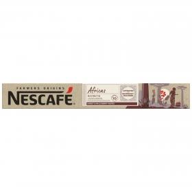 Café ristretto arábica en cápsulas Africas Nescafé compatible con Nespresso 10 ud.