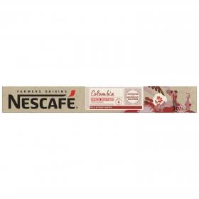 Café espresso descafeinado de Colombia en cápsulas Nescafé compatible con Nespresso 53 g.