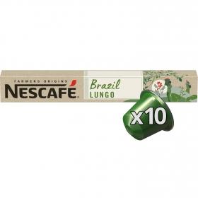 Café lungo en cápsulas Brazil Nescafé 10 ud.