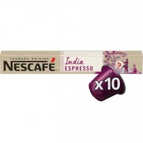 Café espresso en cápsulas India Nescafé compatible con Nespresso 10 ud.