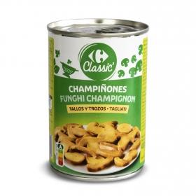 Champiñon en trozos Carrefour 230 g.