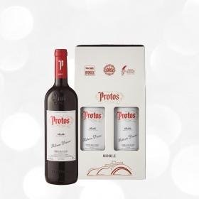 LOTE 82: 2 botellas D.O. Ribera del Duero Protos tinto roble 75 cl.