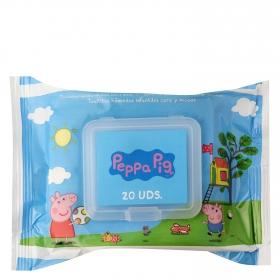 Toallitas húmedas con tapa infantiles Peppa Pig 20 uds.
