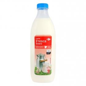 Leche entera fresca Carrefour botella 1,5 l.