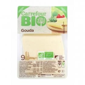 Queso gouda lonchas ecológico Carrefour Bio 200 g.