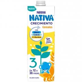 Leche infantil de crecimiento desde 12 meses con cereales Nestlé Junior sin aceite de palma brik 1 l.