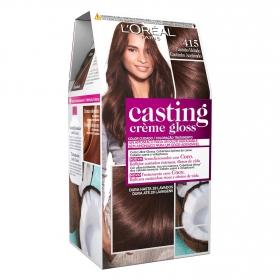 Tinte Créme Gloss nº 415 Castaño Helado L'Oréal Casting 1 ud.