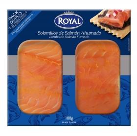 Solomillos de salmón ahumado Dúo Royal pack de 2 unidades de 50 g.