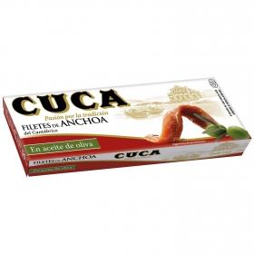 Filetes de anchoa del Cantábrico en aceite de oliva Cuca 29 g.