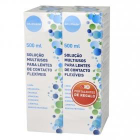Solución multiusos para lentillas Solupharm de 2 unidades de 500 ml.