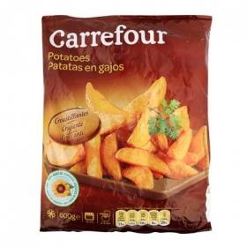 Patatas prefritas con piel Carrefour 600 g.