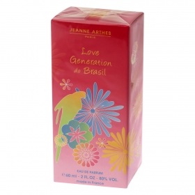 Agua de colonia Love Generation do Brasil Jeanne Arthes 60 ml.