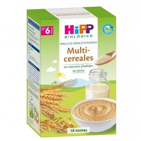 Papilla infantil desde 6 meses multicereales integrales sin azúcar añadido ecológica Hipp 400 g.