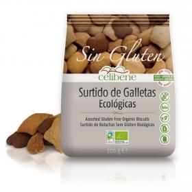 Surtido de galletas ecológicas Celibene sin gluten y sin lactosa 200 g.