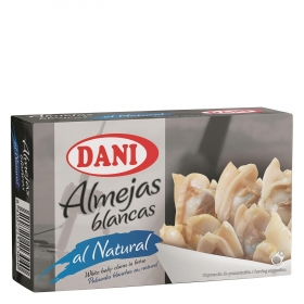 Almejas blancas al natural Dani 63 g.