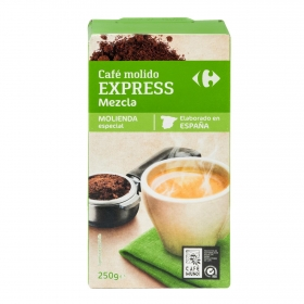 Café molido mezcla expreso Carrefour 250 g.