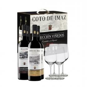 Vino D.O. Ca. Rioja El Coto tinto crianza + Vino D.O. Rioja Coto de Imaz tinto reserva pack de 4 botellas de 75 cl.